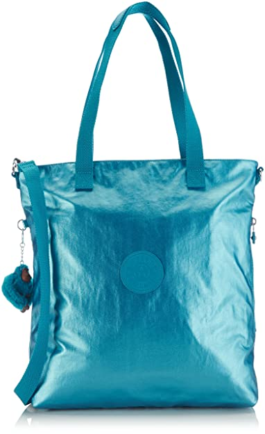 Kipling Women s New Radwan Shoulder Bag Metallic Blue  Amazon.co.uk ... 87bb91808e