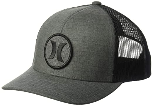 new style 5e762 76af4 Hurley Men s Black Textures Patch Trucker Baseball Cap, Crosshatch, One Size
