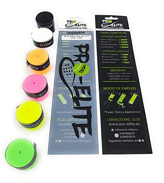 overgrips Pro Elite Confort Perforados (Elige Tus Colores). Blister 5+1: Amazon.es: Deportes y aire libre