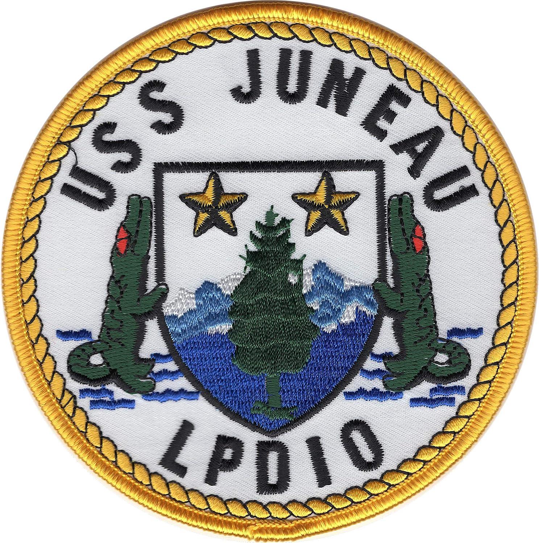 USS Juneau LPD-10 postcard US Navy ship amphibious transport dock card1of2