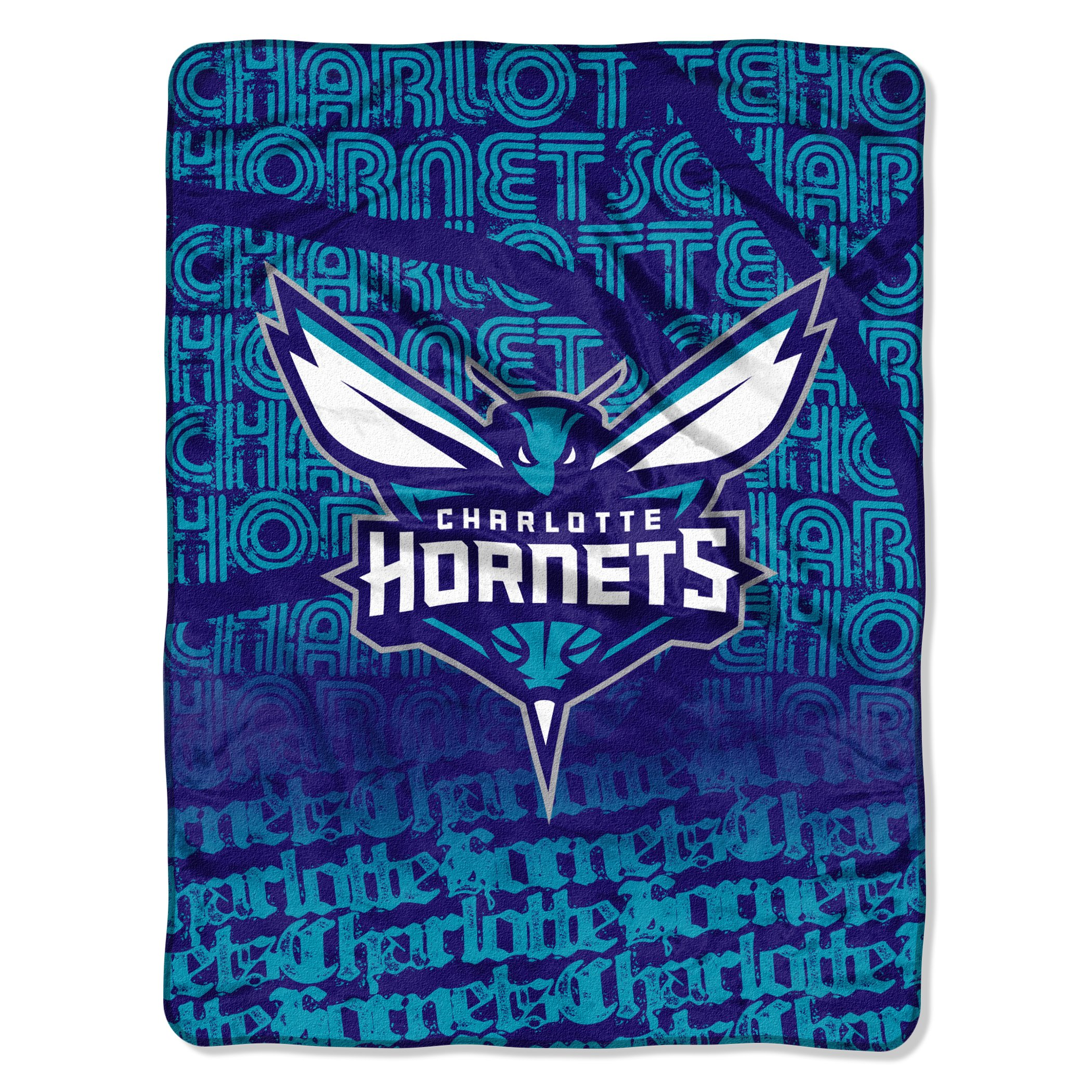 The Northwest Company Officially Licensed NBA Charlotte Hornets Redux Micro Raschel Throw Blanket, Purple, 46 x 60