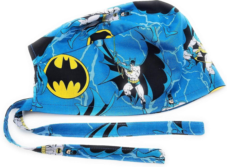 DC Comics featuring Batman Houndstooth Scrub Cap