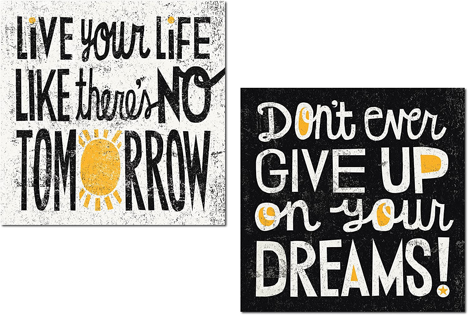 Popular Black, White and Yellow Inspirational