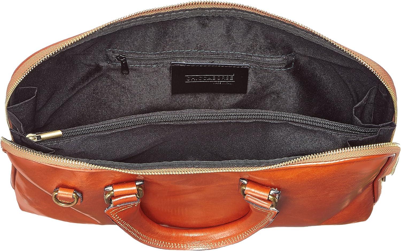 Chicca Tutto Moda CTM Borsa Donna da Lavoro,Organizer da Donna, 38x28x7cm, Vera Pelle 100% Made in Italy Cuoio