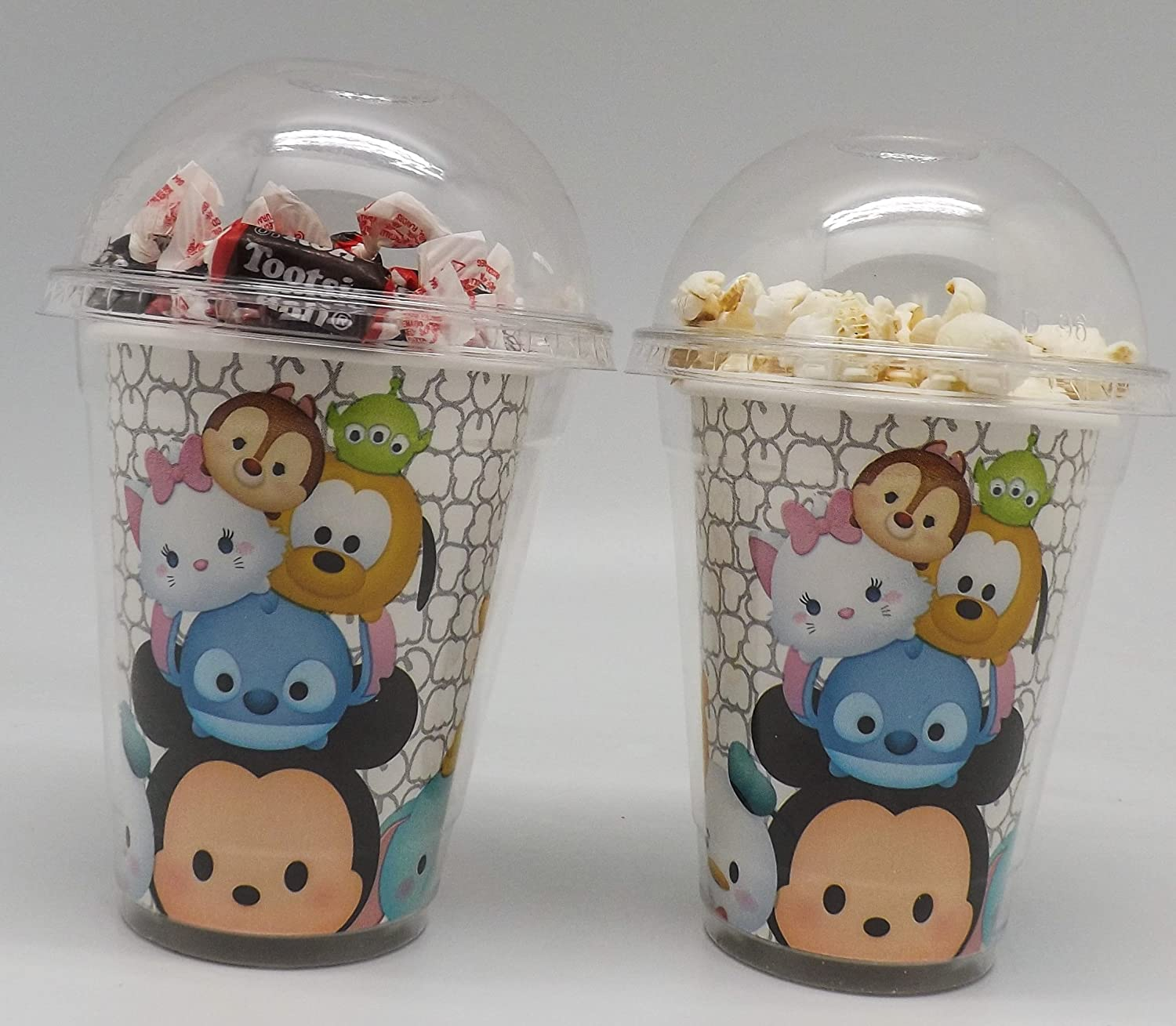 TSUM TSUM by Disney Set of 8 - Party Cups, Popcorn Cups, Goody Bags