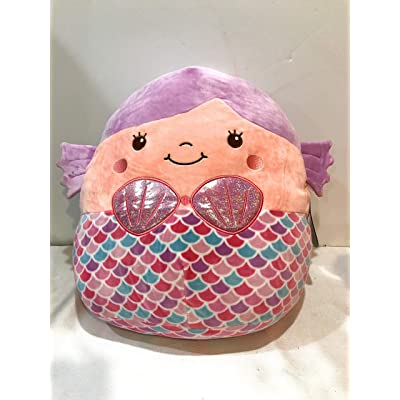 "Squishmallows 16"" Denise The Mermaid Pink & Purple Plush Pillow Toy: Toys & Games"