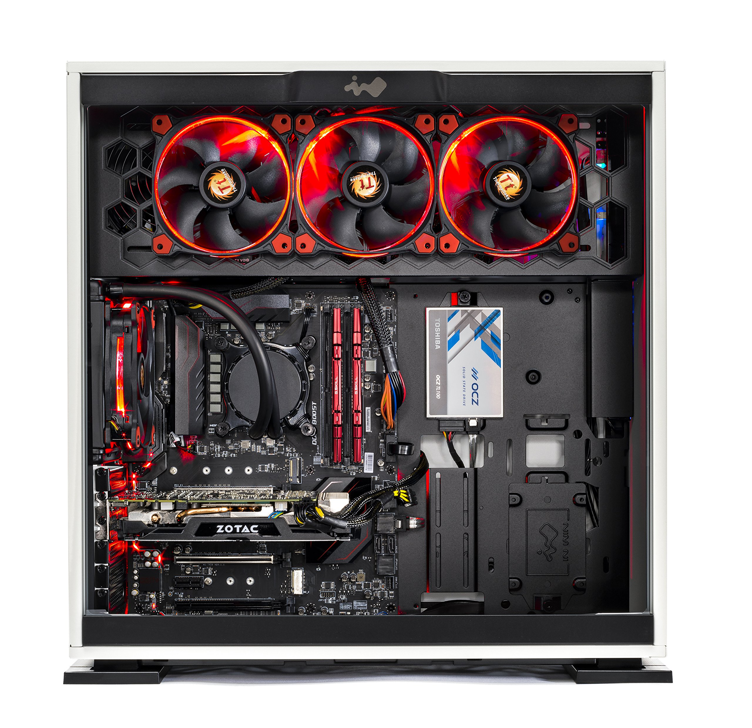 SkyTech Omega Gaming Computer Desktop PC Intel i7-7700K 4.2Ghz, Liquid Cooled, GTX 1080 8GB, 2TB HDD, 240GB SSD, 16GB DDR4, Z270 Motherboard, Win 10 Pro 64-bit (Intel I7 7700K | GTX 1080 Version) by Skytech Gaming (Image #1)