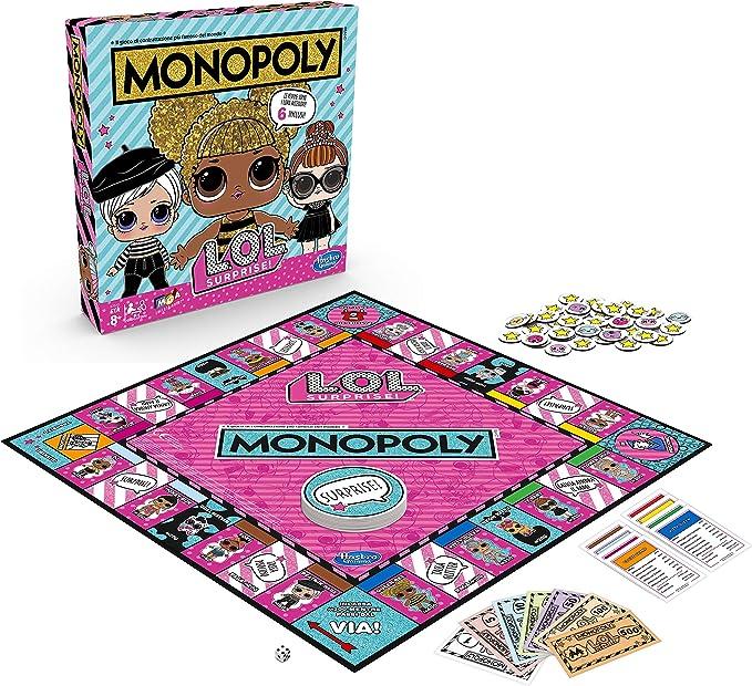 Hasbro E7572103 - Monopoly L.O.L, Multicolor, versión italiana: Amazon.es: Juguetes y juegos
