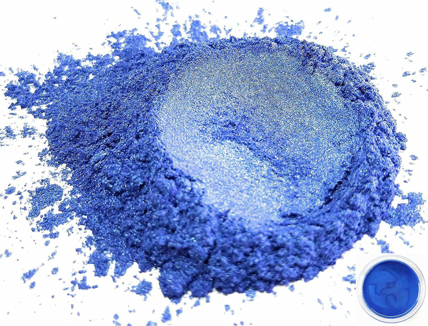 50gr Ajisai Blue Mica Powder Pigments (Resin, Paint, Epoxy, Soaps, Nail Polish, Liquid Wraps) Eye Candy Customz ECC-01077A