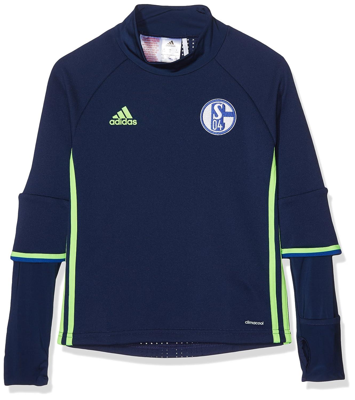 adidas FC Schalke 04 Training Top Youth Sudadera, Azul/Verde (Azuosc/Versol), para niños de 9-10 años: Amazon.es: Deportes y aire libre