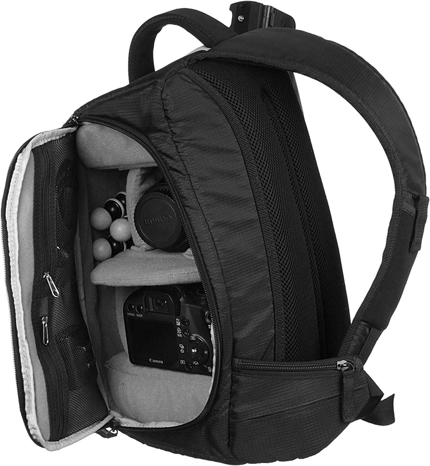 Digital SLR Trendz Back Pack for SLR Black Bridge and Compact System Cameras