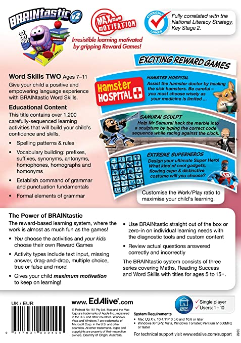 Braintastic Version 2 Word Skills Two Amazon De Software