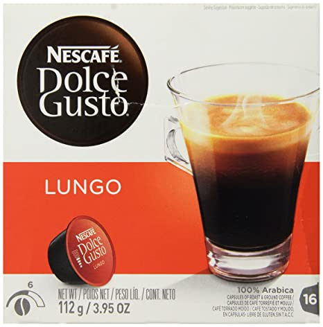 Nescafe - Dolce Gusto - Lungo Coffee Pods 16 Drinks - 112g: Amazon.com: Grocery & Gourmet Food