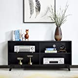 """Mixcept Wooden TV Console 52"""" TV Media Stand Entertainment Center with 4 Compartments, Storage Cabinet with Solid Wood Legs f"""