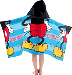 Jay Franco Kids Hooded Towel Mickey Mouse
