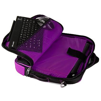 c7d44aa215fb Black Purple Messenger Shoulder Bag Briefcase for DBPower 9.5-Inch 10.5