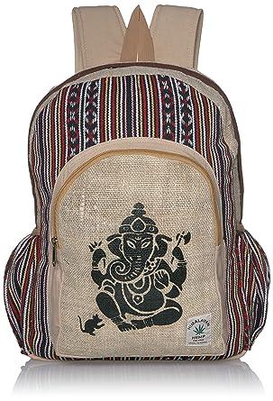 Amazon.com: Puro hecho a mano e impresión grande mochila de ...