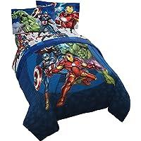 Jay Franco Marvel Avengers Blue Circle Bed Set, Twin