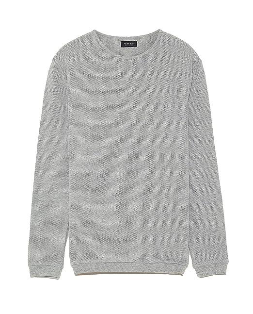 nuovo concetto 70570 eceb9 Zara - Maglione - Uomo Grigio M: Amazon.it: Abbigliamento