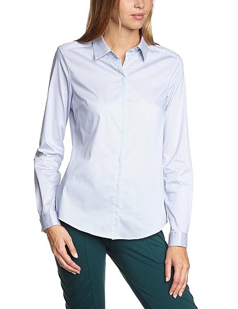 Esprit Im Regular Fit - Blusa de manga larga para mujer, color azul cielo (