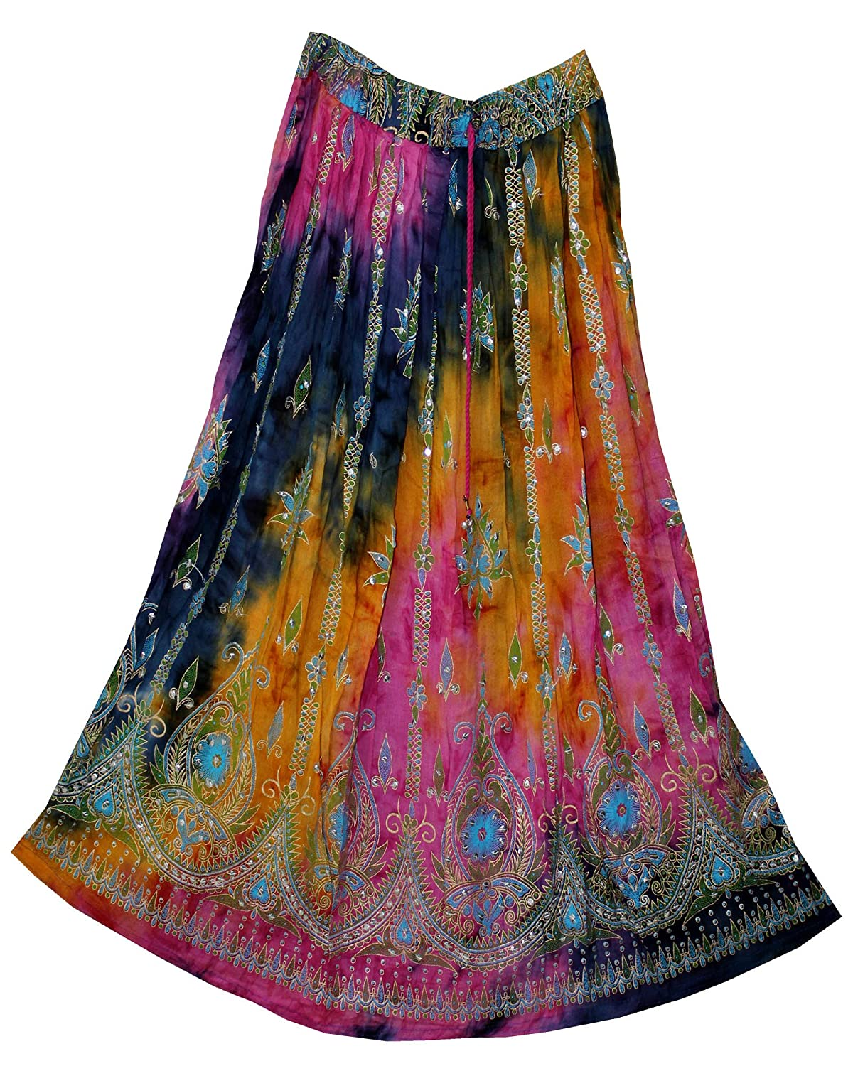 FOI Rayon Skirt Indian Hippie Rock Gypsy Jupe Retro Boho Falda Women Ethnic FOI 13658