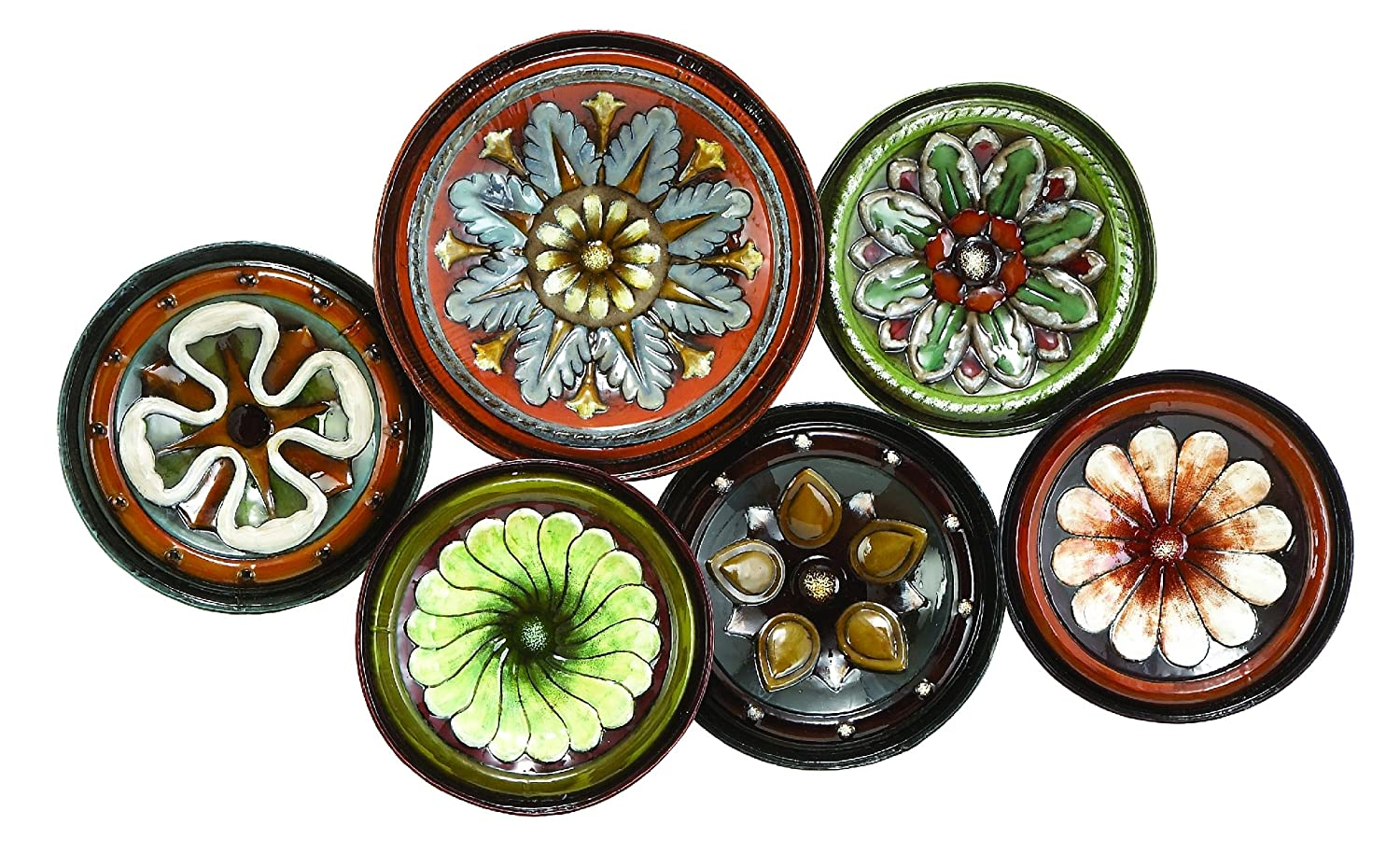 Amazon.com Deco 79 13925 Metal Wall Decor Assorted Design Home \u0026 Kitchen  sc 1 st  Amazon.com : cheap decorative plates - pezcame.com