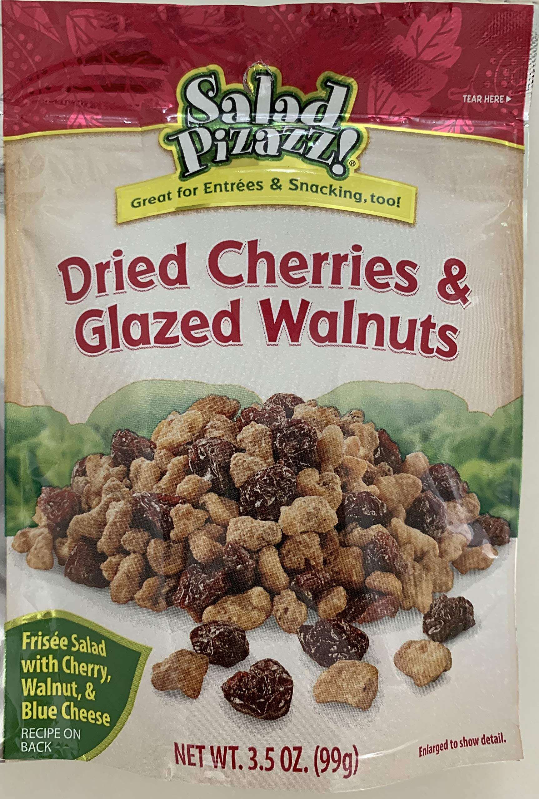 Salad Pizazz Dried Cherries and Glazed Walnuts, 3.5 Ounce (Pack of 12) by Salad Pizazz