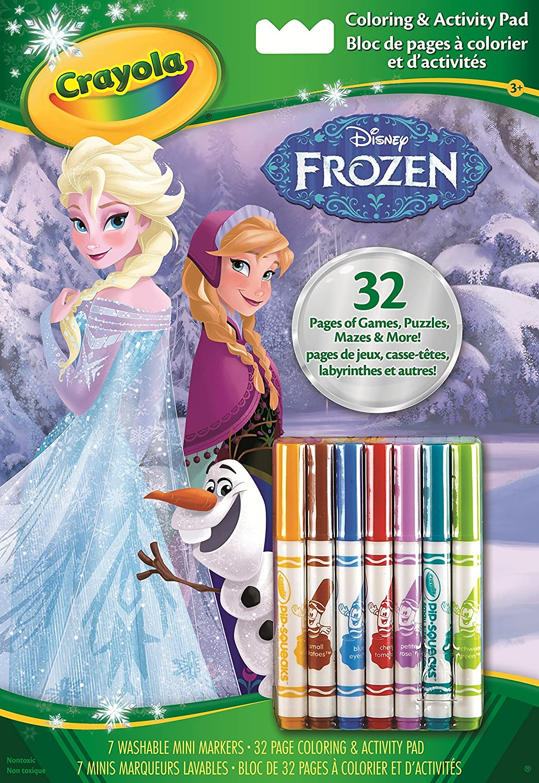 Puzzle à colorier 6 crayon Disney La Reine des Neiges enfant