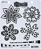 """Ranger DYR51220 Doodle Blooms Dyan Reaveley's Dylusions Cling Stamp Collections, 8.5"""" by 7"""", Clear"""