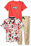 Ecko Boys' Toddler Short Sleeve Woven, T-Shirt, and