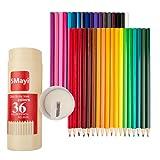 5Mayi 色鉛筆 36色 鉛筆削りが付く 木軸 絵の具セット