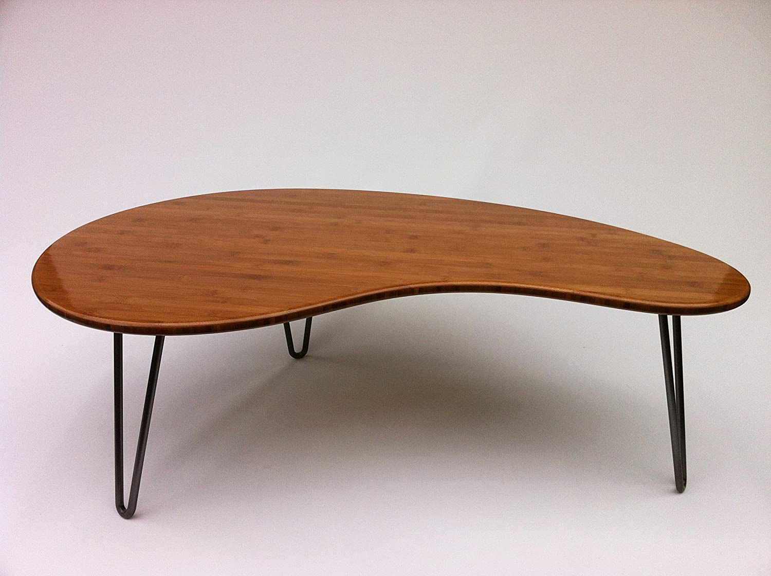 Amazon mid century modern coffee or cocktail table kidney amazon mid century modern coffee or cocktail table kidney bean shaped atomic era biomorphic boomerang design in caramelized bamboo kitchen geotapseo Choice Image
