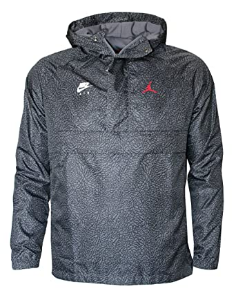 uk availability 0dd22 9084d Nike Air Jordan Windbreaker Men s Hooded Jacket Pullover (M) Black Grey