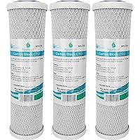 "3x AquaHouse AH-CTO5 Cartuchos de filtro de agua de bloque de carbono de 10""para agua potable, sistemas de ósmosis…"