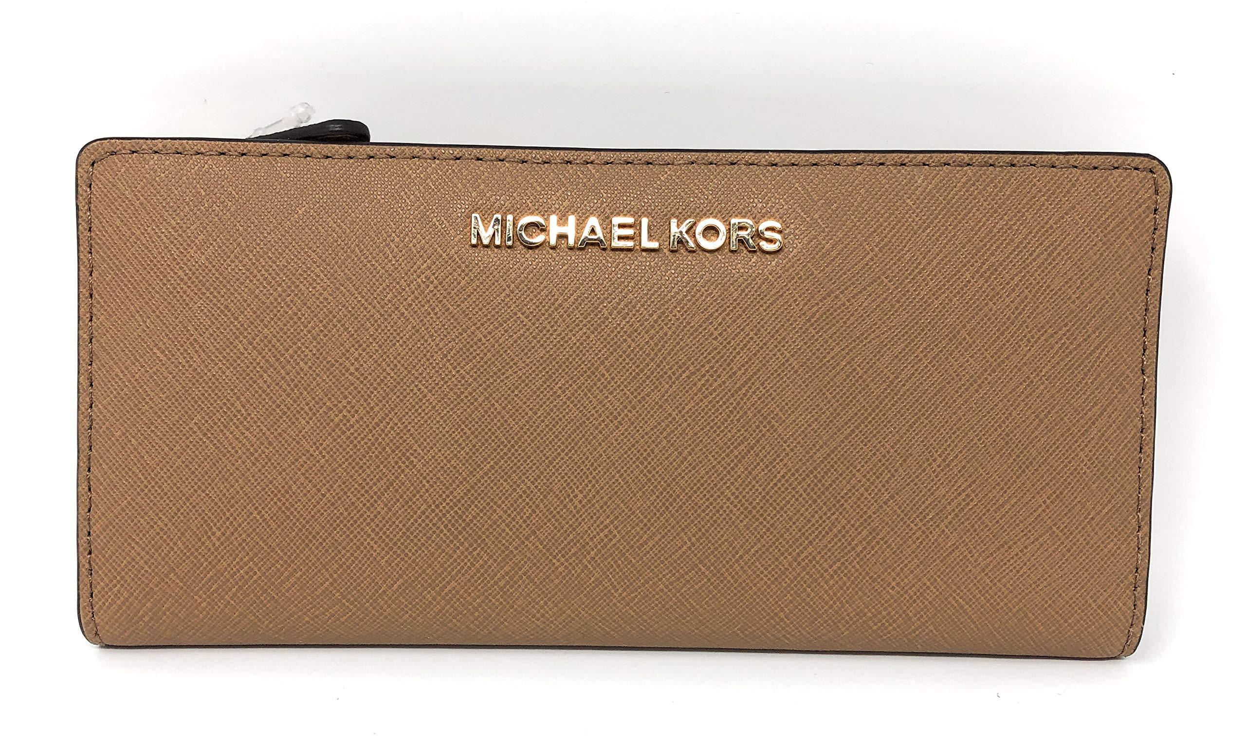 Michael Kors Jet Set Travel Lg Card Case Carryall Wallet in Dk Khaki