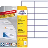 Avery Zweckform 6175 Etiketten (A4, 300 Plus 60 Universal-Etiketten extra, 105 x 48 mm) 30 Blatt weiß