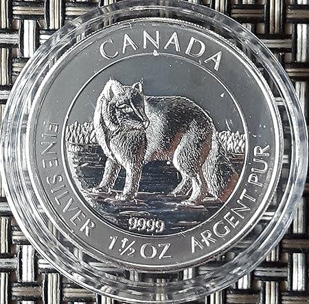15 Unze Oz Canada Polarfuchs 2014 Silbermünze Silber Münze Neu In