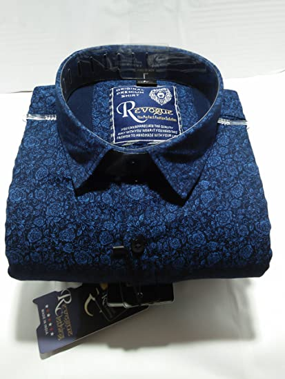 d0934451fd42 Revogue Men s Cotton Casual Shirt  Amazon.in  Clothing   Accessories