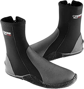 Cressi Neoprene Shoes Boots 3mm, 5mm and 7mm, for Scuba Diving or Walking