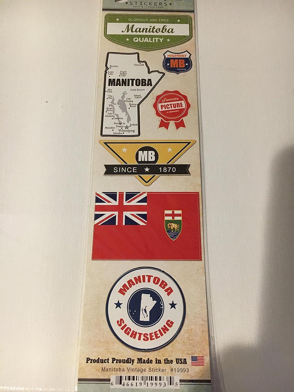 Amazon com: Manitoba Vintage Sticker Sheet by Scrapbook