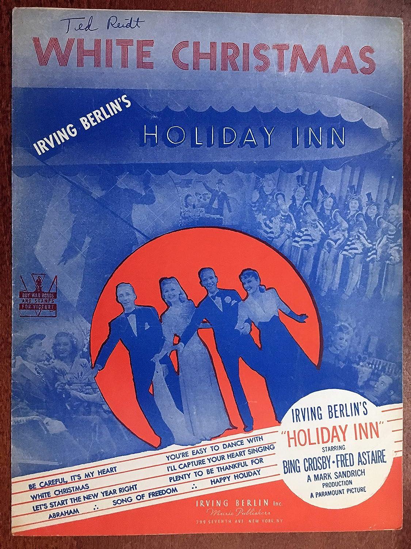 White Christmas Irving Berling.White Christmas Irving Berlin Sheet Music From The 1942 Film