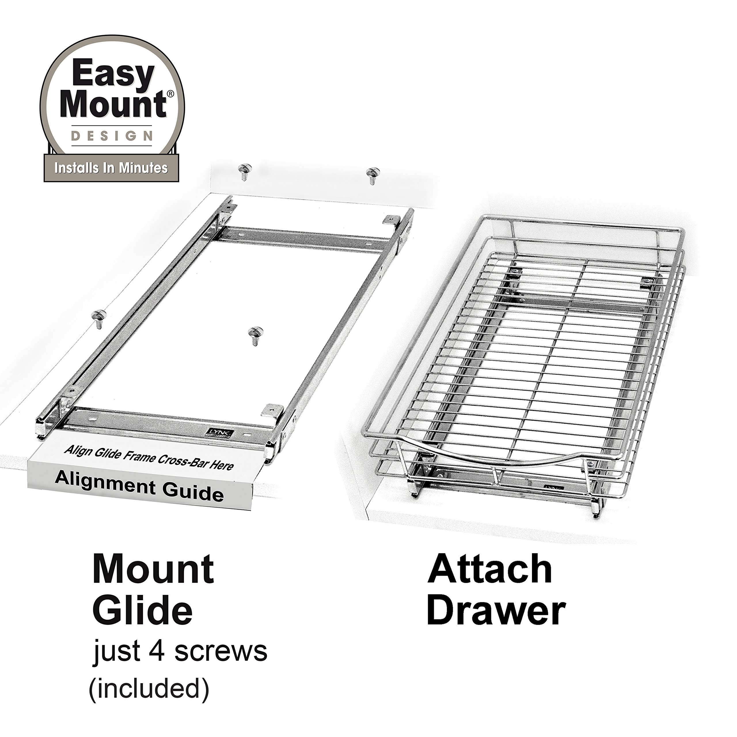Lynk Professional Slide Out Cabinet Organizer - Pull Out Under Cabinet Sliding Shelf by Lynk (Image #5)
