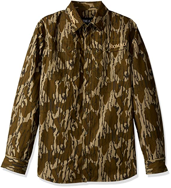6beb7e5951dd3 Nomad NWTF Woven Shirt Long Sleeve, Mossy Oak Bottomland, Small