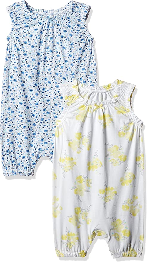 Mothercare Baby Girls' Romper Suit (Pack of 2) Baby at amazon