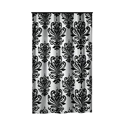e2e2f8fe3ba0c Amazon.com: Extra Long Shower Curtain 72 x 78 Inch Gamma Black And ...