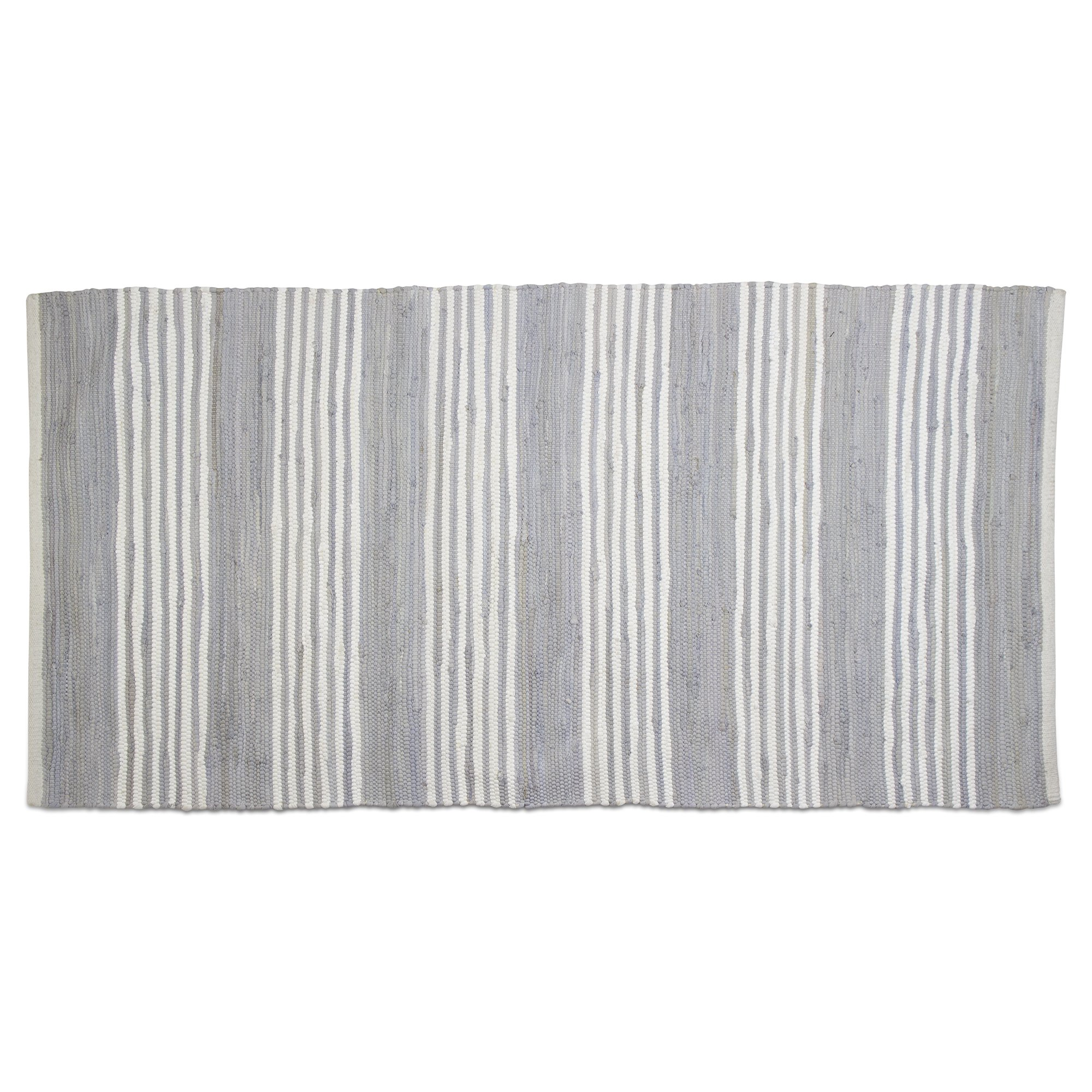 tag - Chindi Stripe Runner Rug, Add Some Style to Your Home, Light Blue (60'' x 30'')