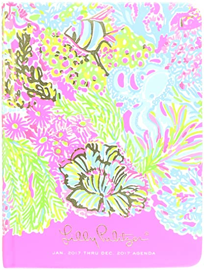 2017 Lilly Pulitzer 12 Month Agenda, Lovers Coral