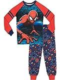 Spiderman Pijamas de Manga Larga para Niños Ajuste Ceñido El Hombre Araña