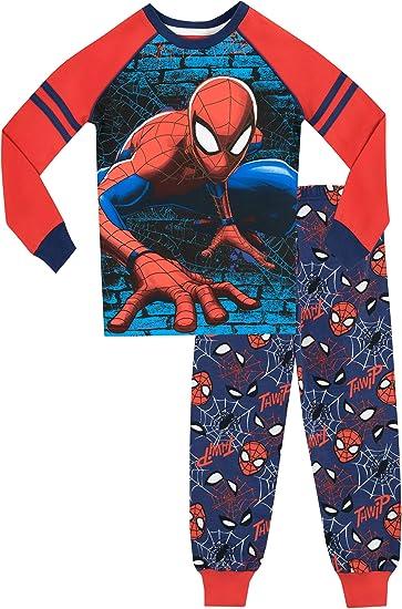 Marvel Spider-Man Pigiama per Uomo Uomo Ragno