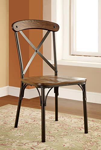 Furniture of America Rizal Industrial Style Round Dining Chair